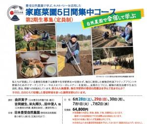 家庭菜園5日間コース