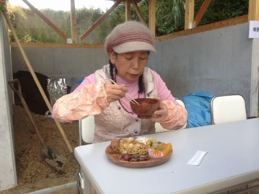 由井会長・食事風景